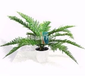 Dense 45cm artificial fern stem