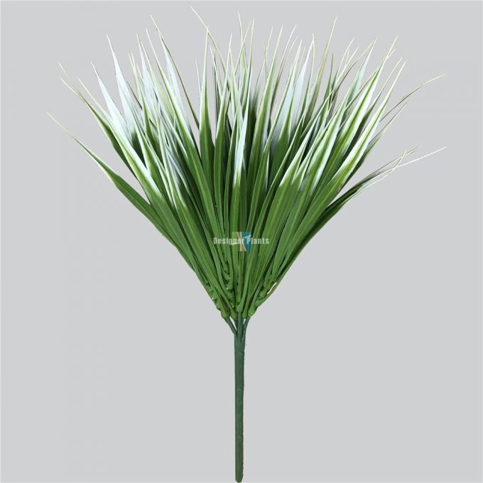 White artificial bush grass 35cm.