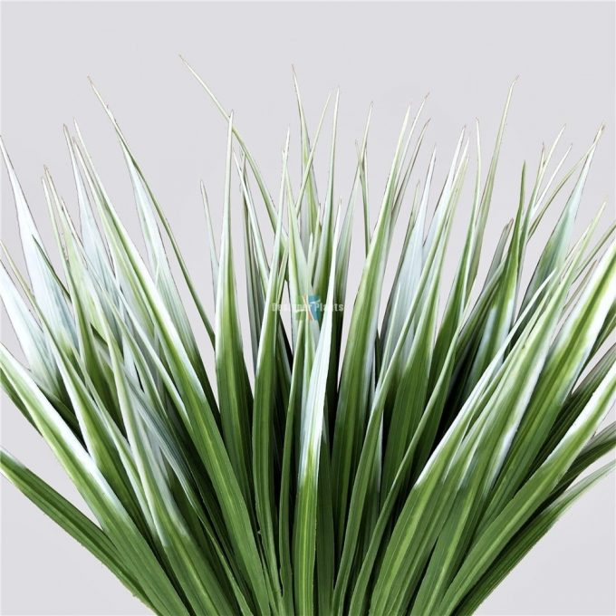 White artificial bush grass 35cm