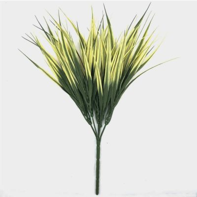 fake yellow grass plant