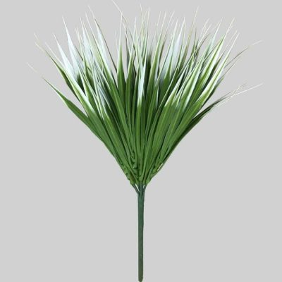 faux white grass plant