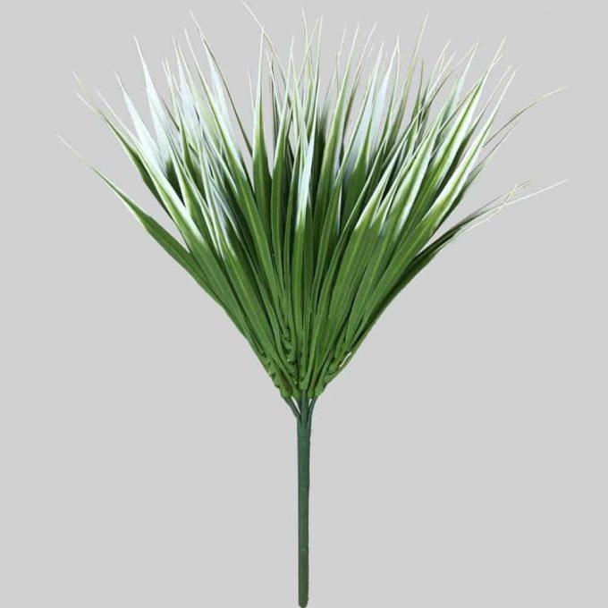 faux white grass plant