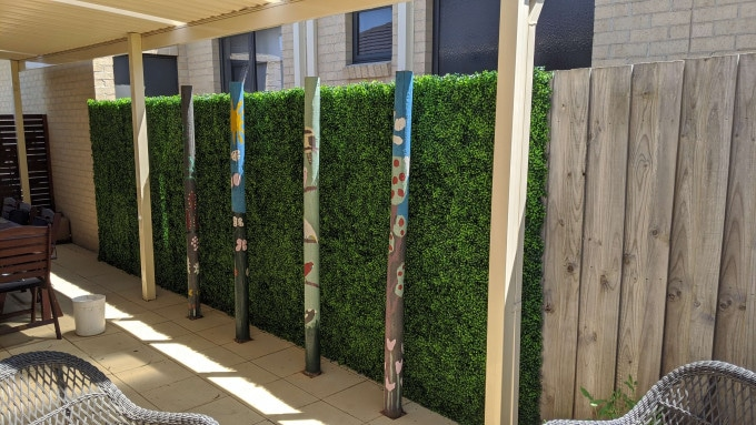 outdoor fake hedge panels