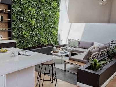 2. White Oasis Vertical Garden by Designer Plants
