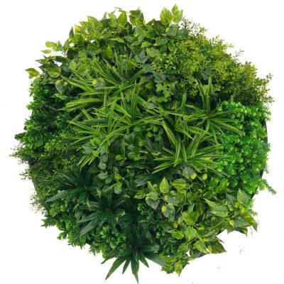 faux green wall disc green