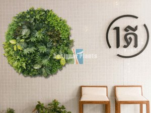 interior design trend in 2018 green art wall disks