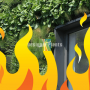 fire safe greenery panels