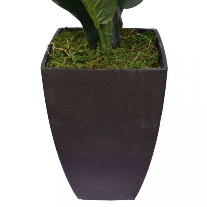 artificial fiddle leaf fig pot