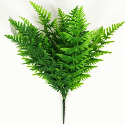 faux bright green fake fern
