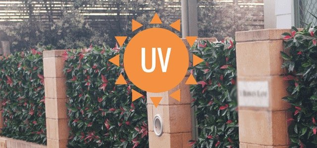 UV treated artificial plants