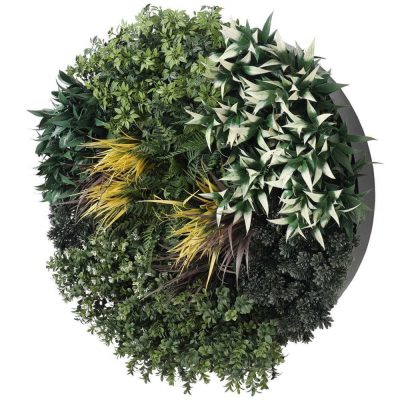 artificial green wall with metal frame