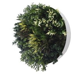 80cm disc fake plant wall UV