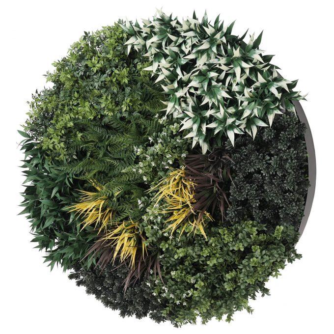artificial vertical garden disc black