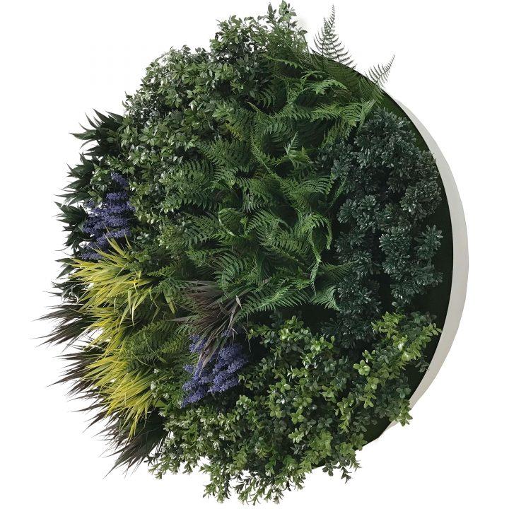 Framed artificial plant wall art