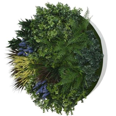 UV Lavender Fields Green Wall Disc (White) 80cm (1)