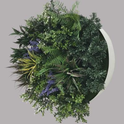 faux outdoor plant wall disc