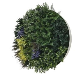 White Lavender Green Wall Disc 100cm