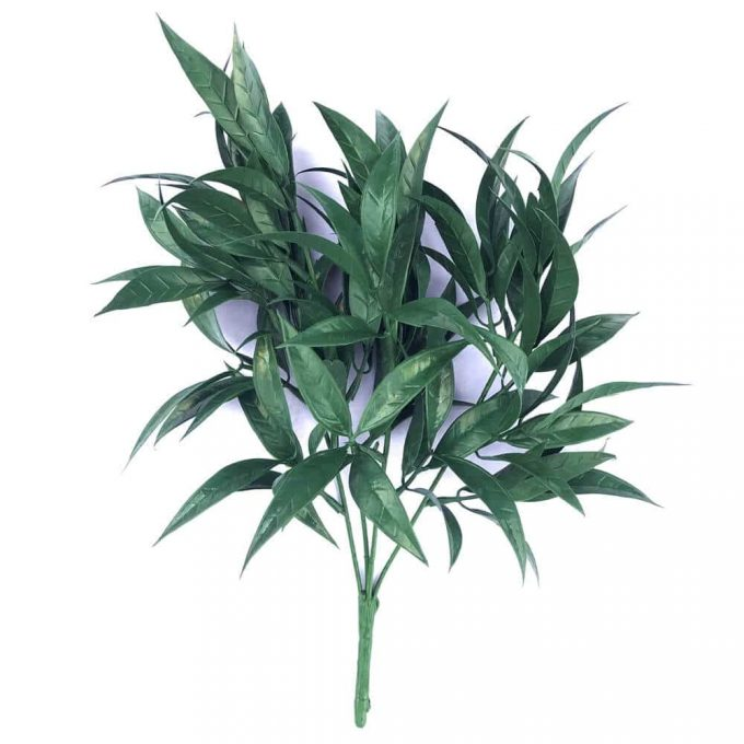 Dark green artificial floral arrangement plant