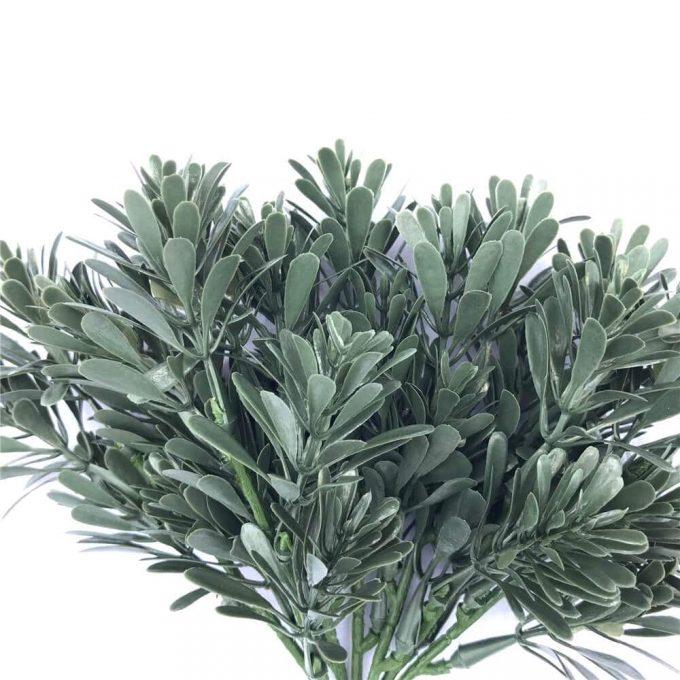 DLVS-28 23CM UV Fireproof Artificial Cypress leaf Bush details 2