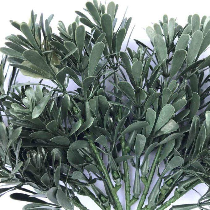 DLVS-28 23CM UV Fireproof Artificial Cypress leaf Bush details 3