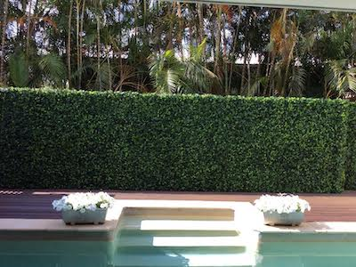 Poolside artificial hedges
