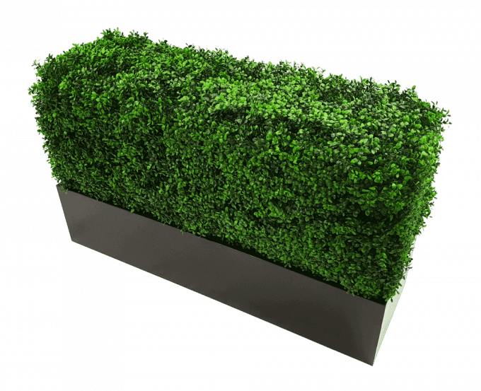 Metal planter for artificial hedges with boxhood with boxhood (1)