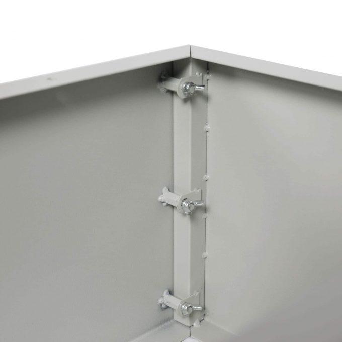 Grey Metal Planter Medium