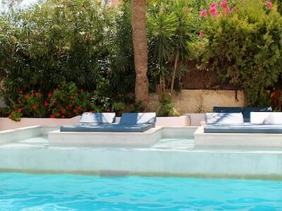 Flower landscaping pool side