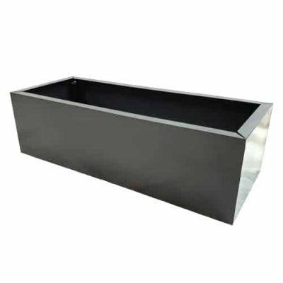 Gray Metal Planter Small