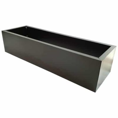 Grey Metal Planter Medium