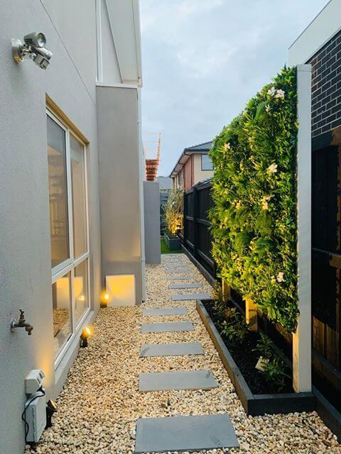 Snowy fake plant green wall panel vertical garden