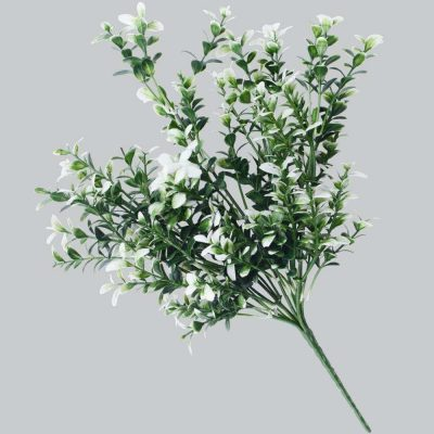 DLVS-102 32cm Artificial Money Leaf White Gree Wall Plant details 1