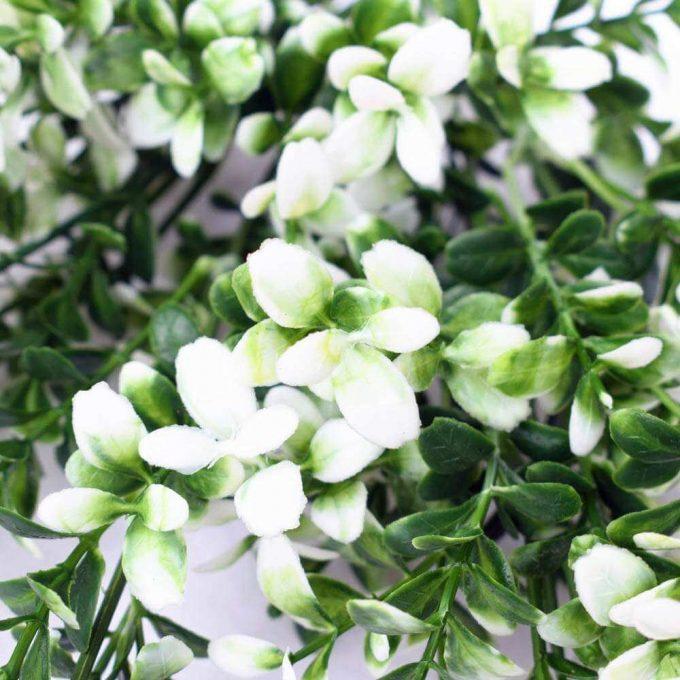 DLVS-102 32cm Artificial Money Leaf White Gree Wall Plant details 2