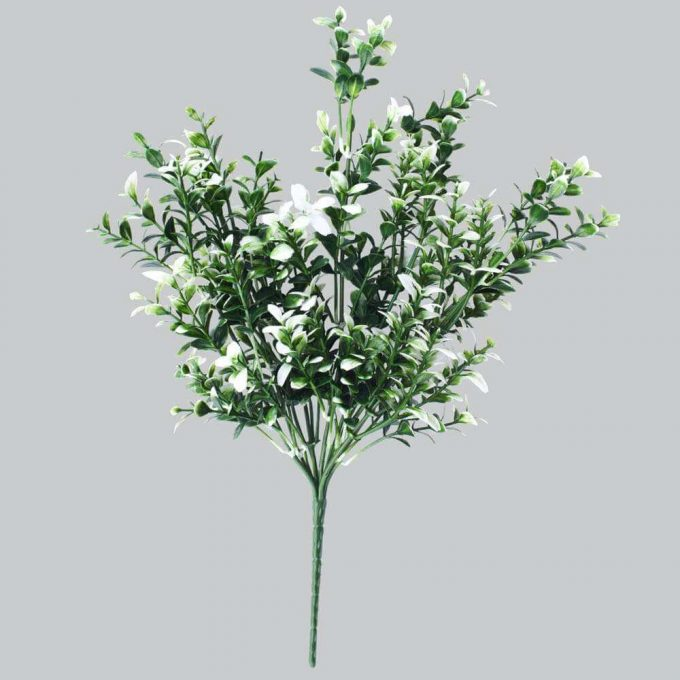 DLVS-102 32cm Artificial Money Leaf White Gree Wall Plant