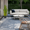 outdoor setting with artificial plants