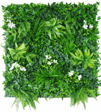 Snowy White Vertical Garden / Green Wall UV Resistant