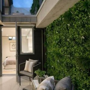 Artificial green wall hedge - White Oasis