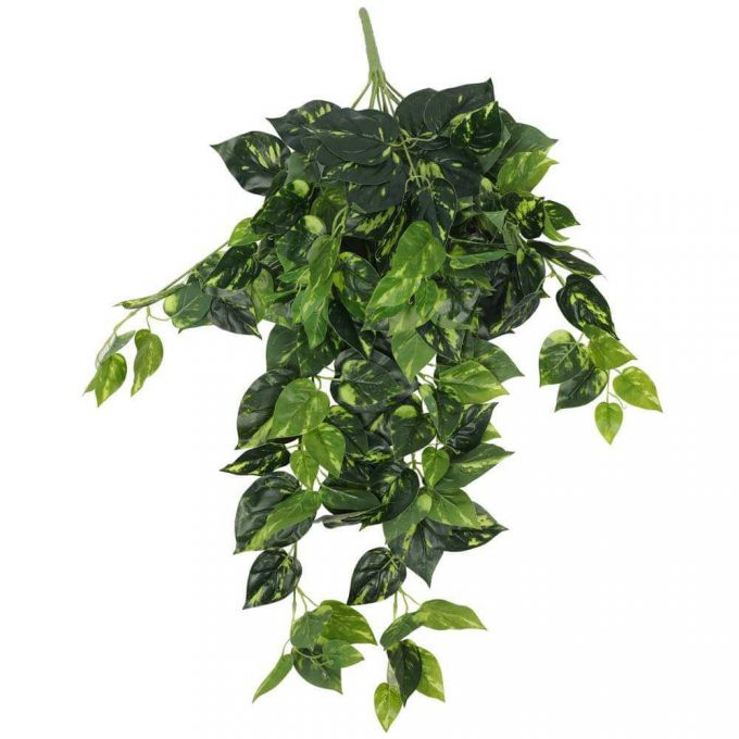 artificial hanging philodendron bush
