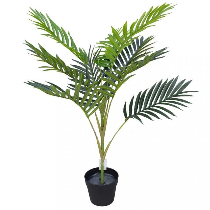 Artificial mountain palm in a pot