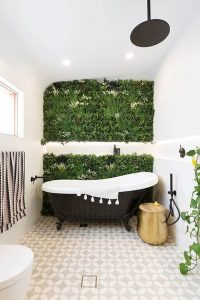 premium artificial green wall panel