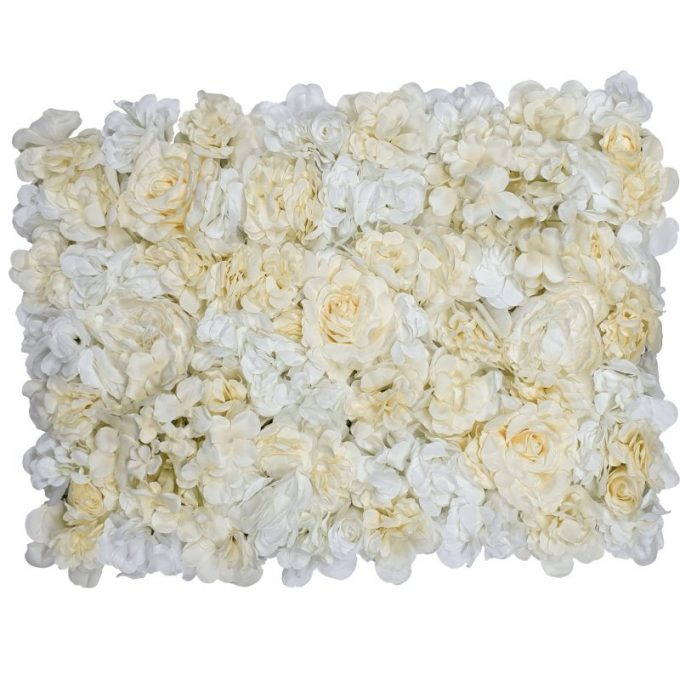 Cream Rose Flower Floral Wall 60cm x 40cm