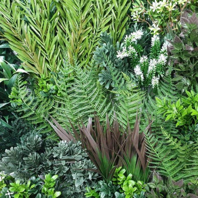Green Wall - White Lavender Field Vertical Garden Green Wall UV Resistant 90cm x 90cm (3)