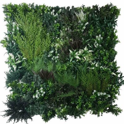 White Lavender Field Vertical Garden Green Wall UV Resistant 90cm x 90cm