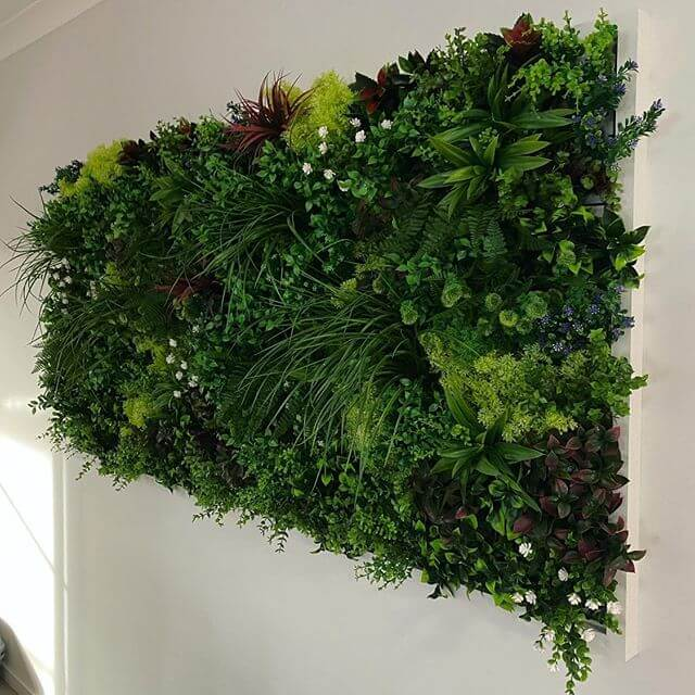flowering vertical garden panel