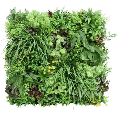 flowering indoor artificial green wall panel