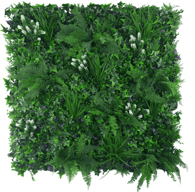 flowering artificial white green wall jungle
