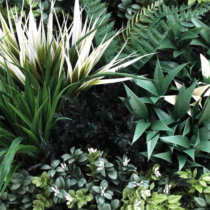 Foliage - Bespoke green wall panel sample