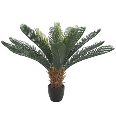 lifelike potted cycad tree