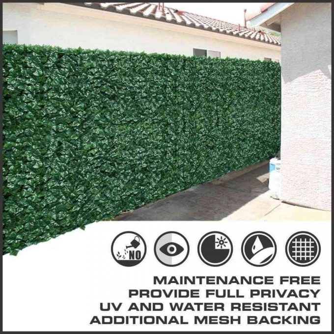 Installation of artificial 2 sided ivy