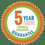 UV resistant guarantee